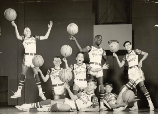 The Cheney Stud Courteers entertained fans at halftime of college and professional basketball games up and down the West Coast in the early 1960s.