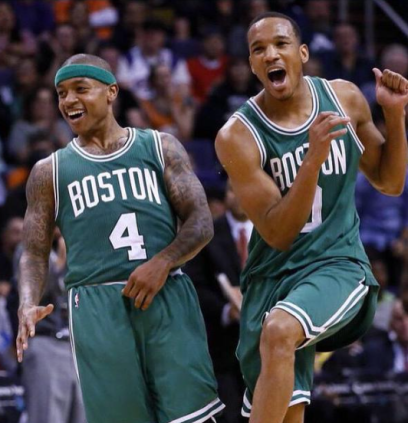 Isaiah Thomas (Curtis HS) & Avery Bradley (Bellarmine Prep) with the Boston Celtics in 2016
