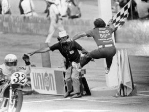 """Bouncin"" Bob Malley was a longtime starter for motorcycle known for his impromptu somersaults to start a race."
