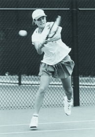 Sonya Olejar, a Bellarmine grad, was the first tennis player in state history to win four consecutive state high school tennis titles as she reigned as the 4A champion from 1988-92.