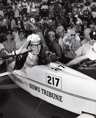 Greg Schumacher won the Soap Box Derby National championship in 1964 in Akron, Ohio, and David Krussow duplicated the effort in 1966.