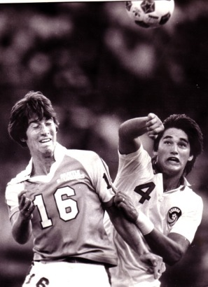 Stadium high grads Jeff Stock (Seattle Sounders) and Jeff Durgan (New York Cosmos) competed against each other in the North American Soccer League in the 1980s