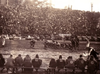 The College of Puget Sound hosted Gonzaga in a football game in the 1930s played in Stadium Bowl.